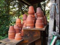Terra Cotta Pots Stock Images