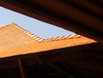 Terra cotta roof. Thai house with terra cotta roof Stock Images