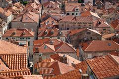 Terra cotta roof tops in Dubrovnik, Croatia Royalty Free Stock Images