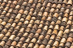Terra Cotta Shingles covering a roof in Brazil Royalty Free Stock Image