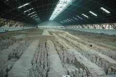 Terra Cotta Warrior Excavation Site royalty free stock photos