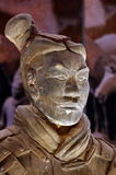 Terracotta warrior - National Museum of Romanian History, Bucharest, landmark attraction in Romania. Original terracotta warrior of the Qin Dynasty - National Stock Image