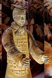 Terracotta warrior - National Museum of Romanian History, Bucharest, landmark attraction in Romania. Original terracotta warrior of the Qin Dynasty - National Stock Images