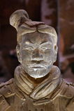 Terracotta warrior - National Museum of Romanian History, Bucharest, landmark attraction in Romania. Original terracotta warrior of the Qin Dynasty - National Royalty Free Stock Photography