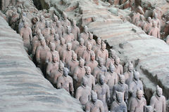 Terra-cotta warriors. The museum of terra-cotta warriors and horses of qin shihuang (Xian - China Stock Photography