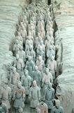 Terra Cotta Warriors. Terra Cotta Warrior Excavation Site in Xian, China Stock Images