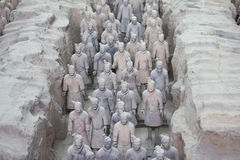 Terra cotta warriors Royalty Free Stock Photos