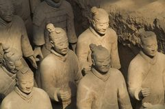 Terra cotta warriors. In China Stock Images