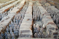 Terra-Cotta Warriors. Of Qin Dynasty Stock Photography