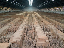 Terra-cotta warriors. In Xian, China Royalty Free Stock Image