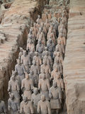 Terra-cotta warriors. In Xian, China Stock Photos
