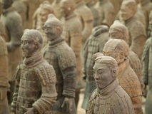 Terra-cotta warriors. In Xian, China Stock Image