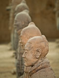 Terra-cotta warriors. In Xian, China Royalty Free Stock Photography