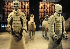 Terra Cotta Warriors. (reproducation) close up.Xian,China royalty free stock photography