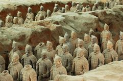 Terra-Cotta warriors Royalty Free Stock Photos
