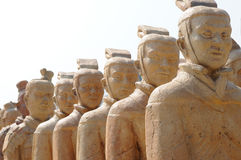 The terra cotta warriors. A file of terra-cotta figure  warriors in Xi'an,China Stock Photo
