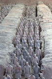 Terra-Cotta Warriors. Are The eighth wonder of the world Stock Images