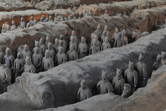 He Terra-cotta Warriors and Horses Stock Image