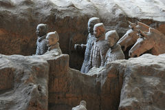The Terra-cotta Warriors and Horses Royalty Free Stock Photos
