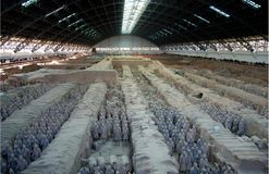 Terra Cotta Warriors and Horses royalty free stock image