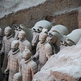 Terra cotta warriors and horses Royalty Free Stock Photography