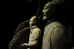 The Terra-cotta Warriors and Horses. In xian china Stock Photos