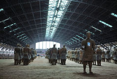 Terra-cotta Warriors and Horses Royalty Free Stock Photos