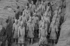 Terra Cotta Warriors and Horses Royalty Free Stock Photos
