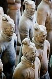 Terra cotta warriors of Qin. Terra-cotta warriors and horses of Qin Shihuang were discovered in Lintong, Shaanxi Province, China in 1970s. As 'the eighth wonder Royalty Free Stock Photo