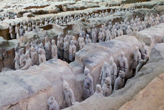 Terra cotta warriors Stock Image