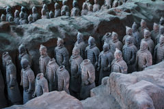 Terra Cotta Warriors. Xi'an,China.The eighth wonder of the world Royalty Free Stock Photos