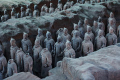 Terra Cotta Warriors. Xi'an,China.The eighth wonder of the world Royalty Free Stock Image