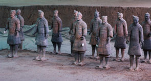Terra Cotta Warriors. Xi'an,China.The eighth wonder of the world Royalty Free Stock Images