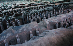Terra Cotta Warriors. Xi'an,China.The eighth wonder of the world Stock Image