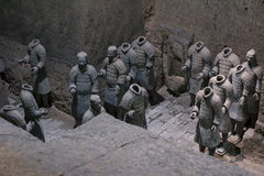Terra Cotta Warriors. Xi'an,China.The eighth wonder of the world Stock Photos
