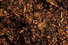 Terra cruda con la macro del fertilizzante Immagini Stock Libere da Diritti