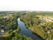 A terra curva-se, Elora, Ontário, Canadá Imagens de Stock