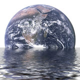 Terra d'affondamento Fotografia Stock Libera da Diritti