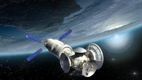 Terra d'esame del satellite Fotografia Stock