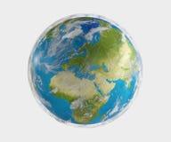 Terra 3d-illustration do planeta do mundo Elementos deste furni da imagem Imagens de Stock