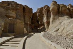 Terra da civilização em Al Qarah foto de stock royalty free