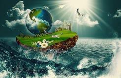 Terra da embarcação Imagens de Stock