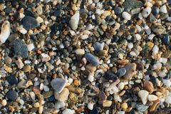 A terra da pedra da praia foto de stock royalty free