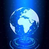 Terra da pesquisa, conexão do globo, fundo da tecnologia - vetor ilustração royalty free