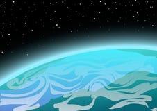 Terra da spazio Immagini Stock