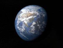 Terra da spazio Asia con le nuvole Fotografie Stock