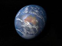 Terra da spazio Australia con le nuvole Fotografia Stock Libera da Diritti