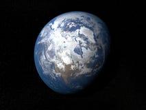 Terra da spazio Canada con le nuvole Fotografia Stock