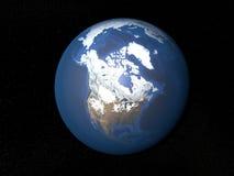 Terra da spazio Canada senza nuvole Immagini Stock Libere da Diritti