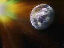 Terra da spazio. Elementi di questa immagine ammobiliati dalla NASA. Fotografie Stock Libere da Diritti